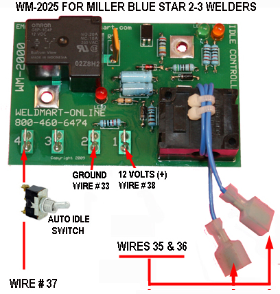 welmart Idler Board for Miller Blue Star